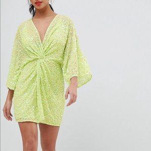 Kimono sequin dress